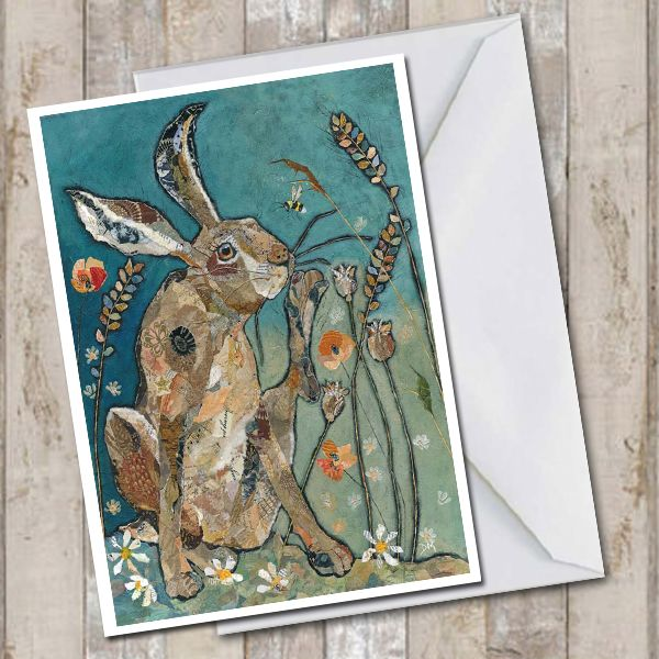 Hare Scratching Greetings Card