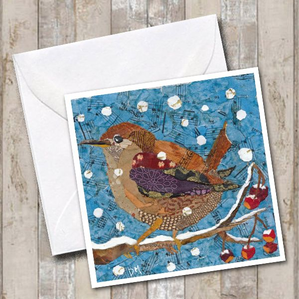 Wren in Snow - Card