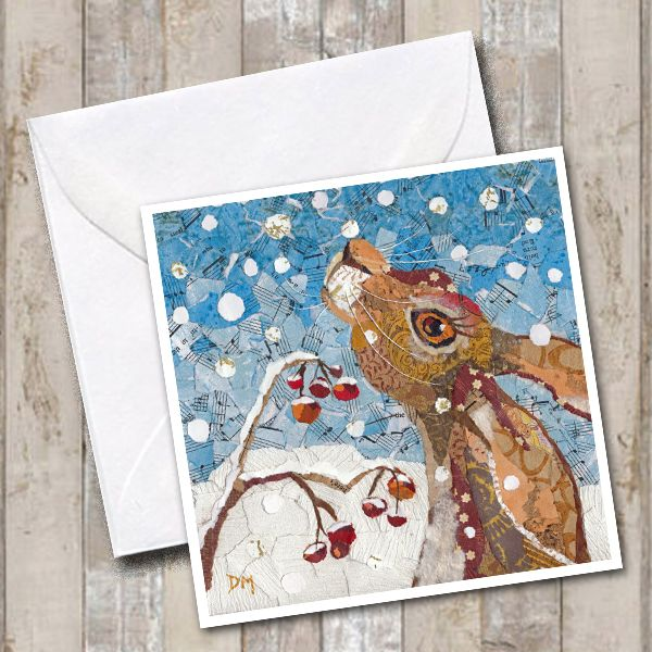 Hare in Snow - Card