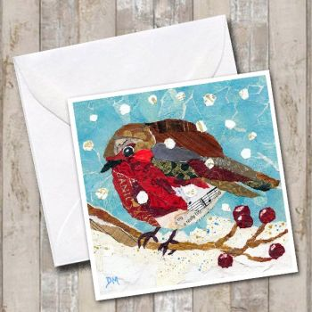 Merry Berry Robin Card