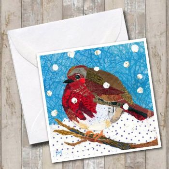 Robin in Snow - Card