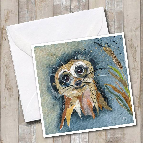 Meerkat Smiling Square Art Greetings Card