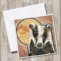 Badger & Moon Card