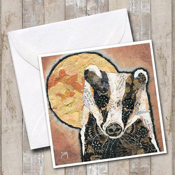 <!-- 041 -->Badger & Moon Card