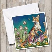 Show me the Honey - Fox & Bee Card