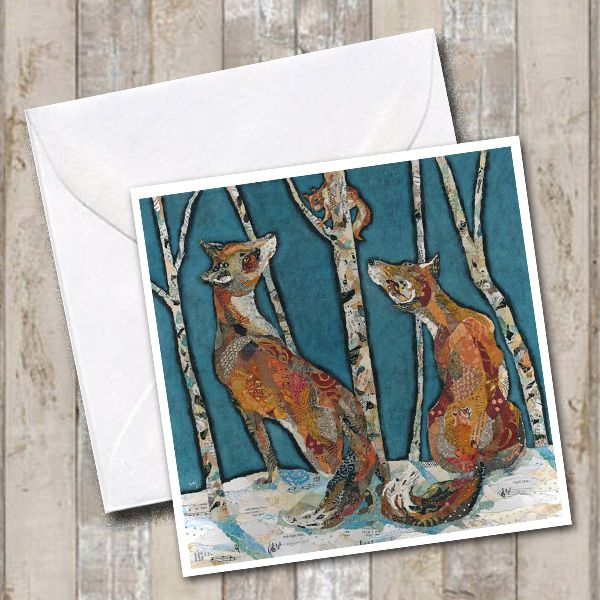 Woodland Fox & Squirrel Card