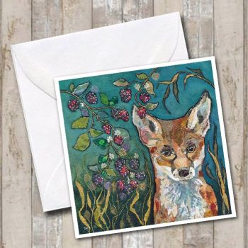 Fox in Brambles - Card