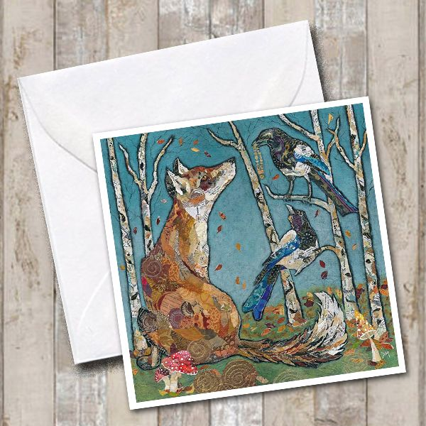 Fox & Magpie Woodland Greetings Card