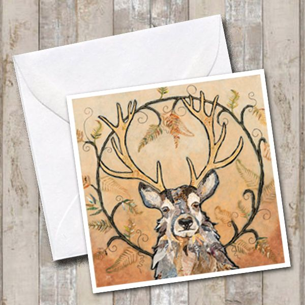 Stag Art Greetings Card