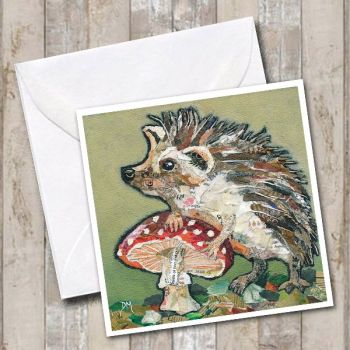 Spots 'n' Spikes - Hedgehog & Toadstool Card