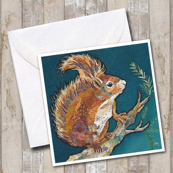 <!-- 042 -->Wee Red Squirrel Card