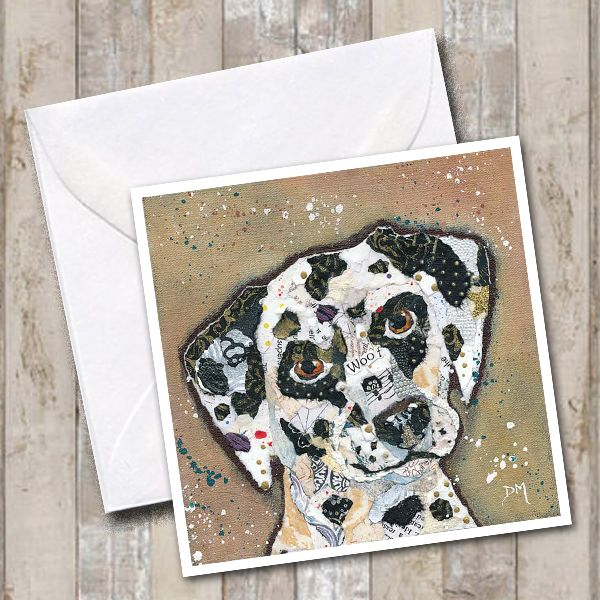 Dalmation Dog Art Greetings Card