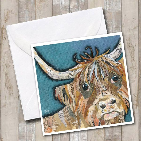 Dougal Highland Cow Art Greetings Card