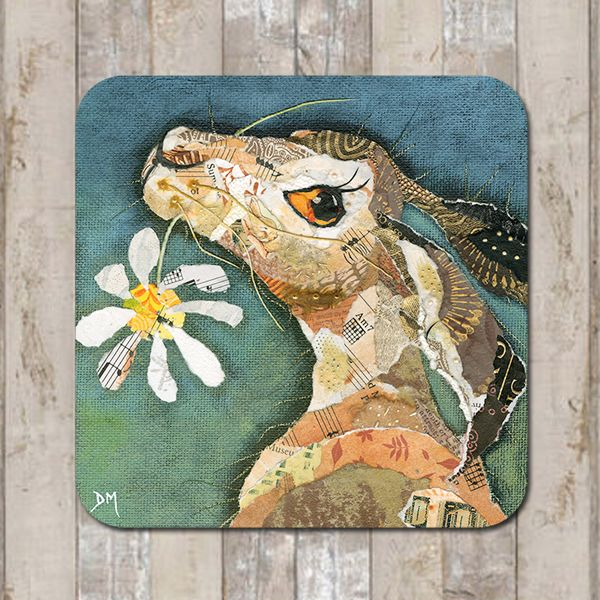 Hare and Flower Coaster Tablemat Placemat