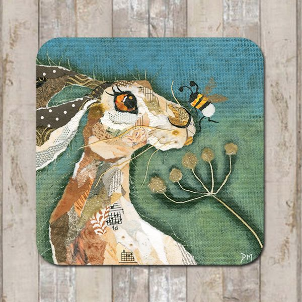 Hare &  Nosey Bee Coaster Tablemat Placemat