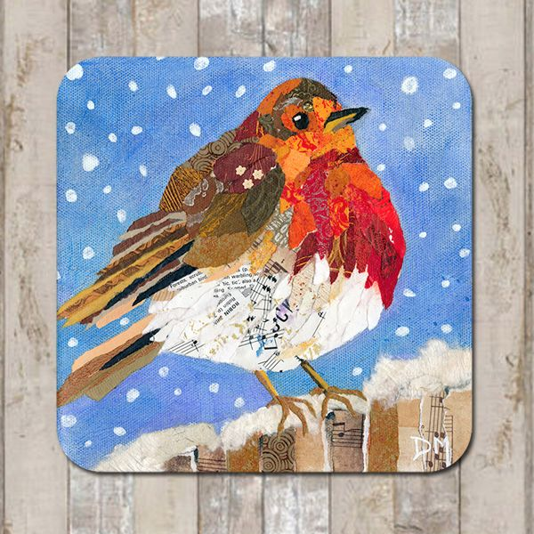 Robin in Snow Coaster Tablemat Placemat