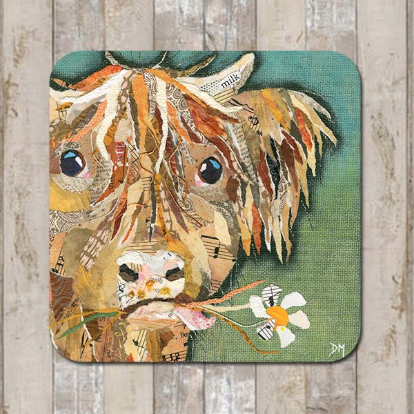 Hamish Highland Cow Coaster Tablemat Placemat