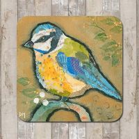 Blue-tit on Ochre Tableware