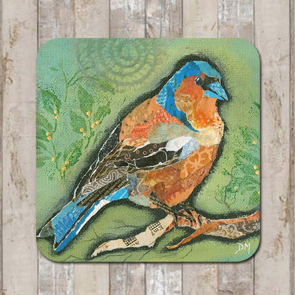Finch Bird on Green Coaster Placemat Tablemat