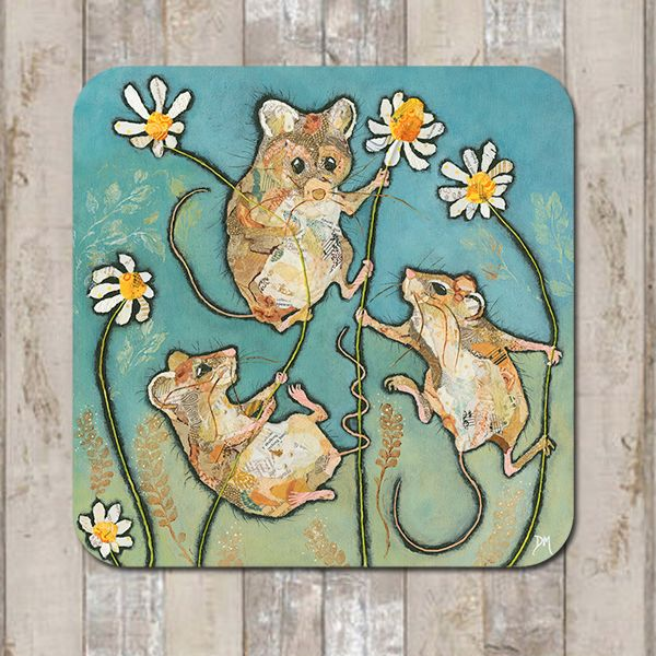 Mouse and Daisies Coaster Tablemat Placemat