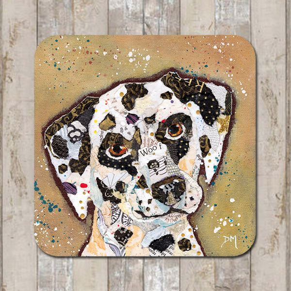 Dalmation Dog Coaster Tablemat Placemat