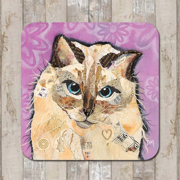 Coco Ragdoll Cat Coaster Tablemat Placemat