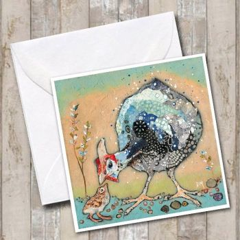 Mini-Ginnie - Guinea Fowl Card