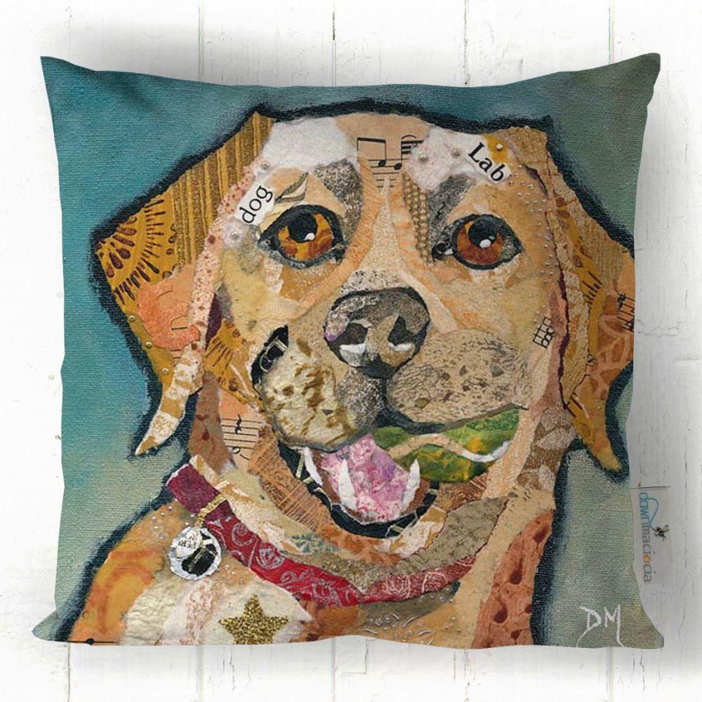 Labrador Dog Art Cushion