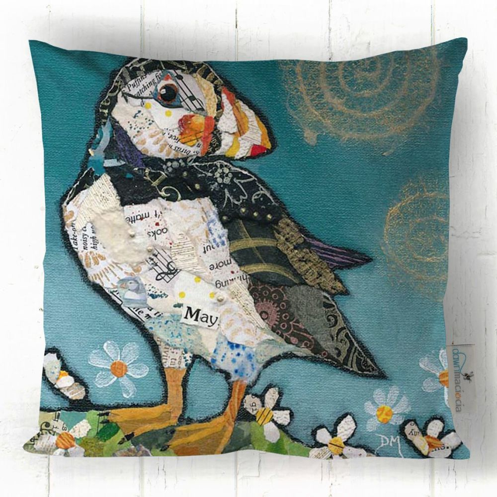 May Puffin Printed Art Cushion