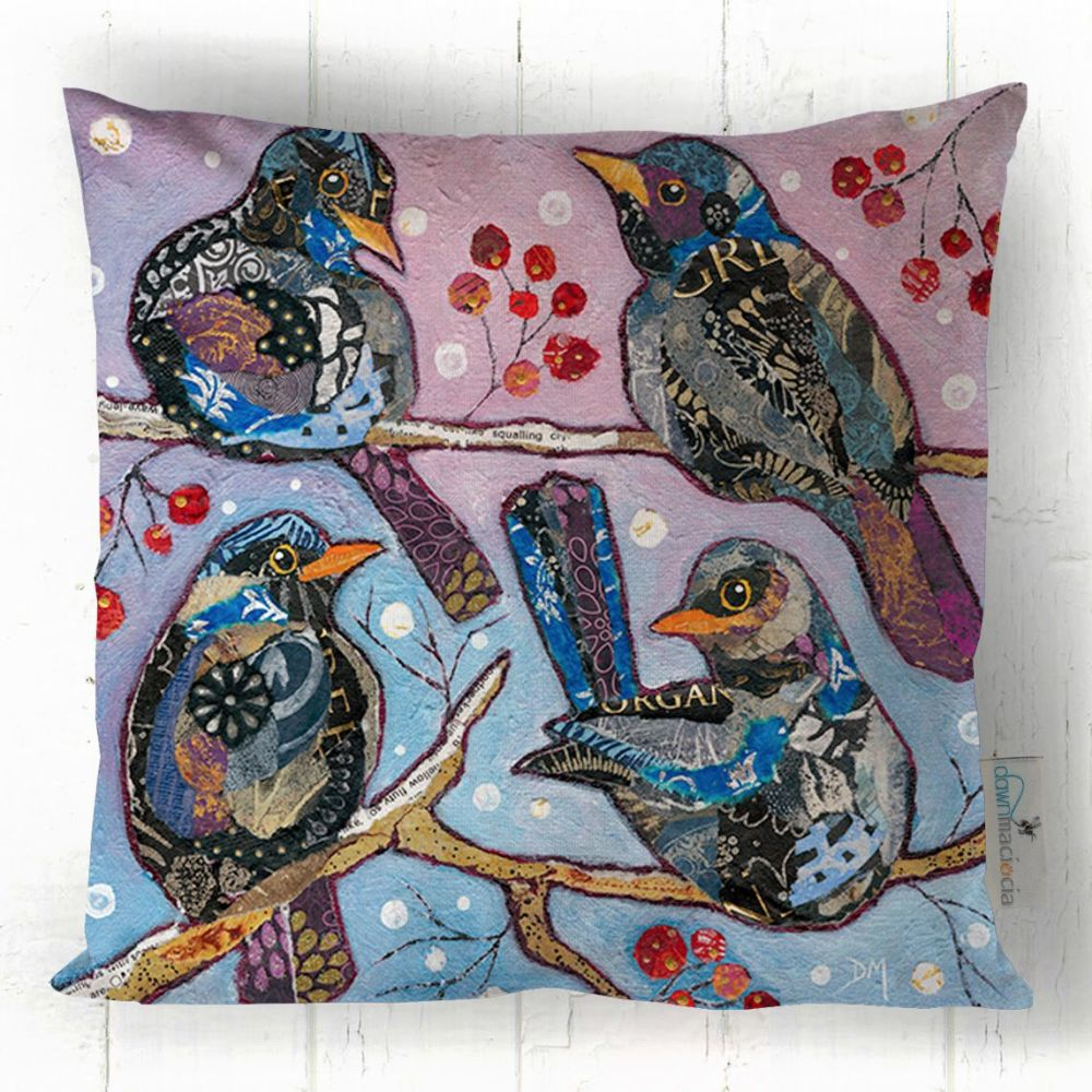 Four Colly Birds - Cushion