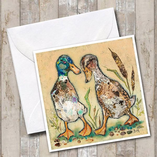 Two Duck Friends Art Card