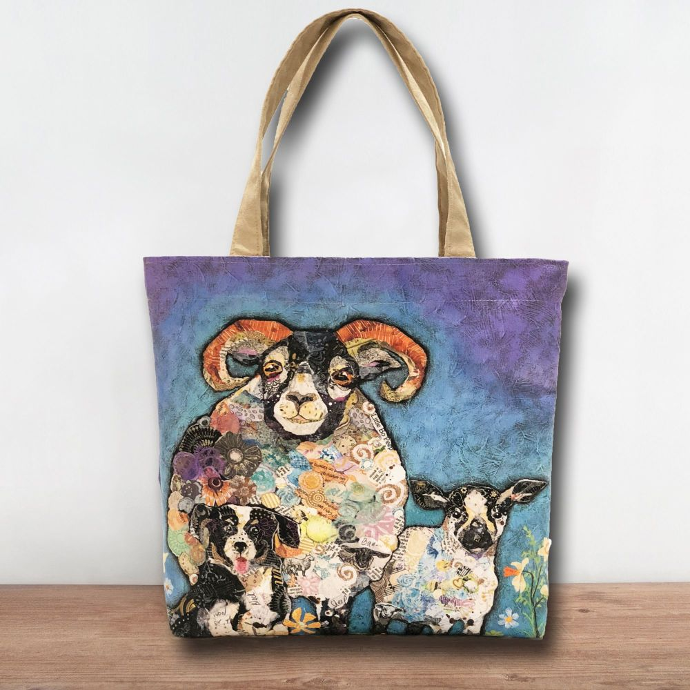 Sheep & Dog Tote Shopper Bag