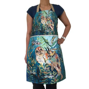 *NEW* AP318 - Deep Blue Seal - Plush Apron