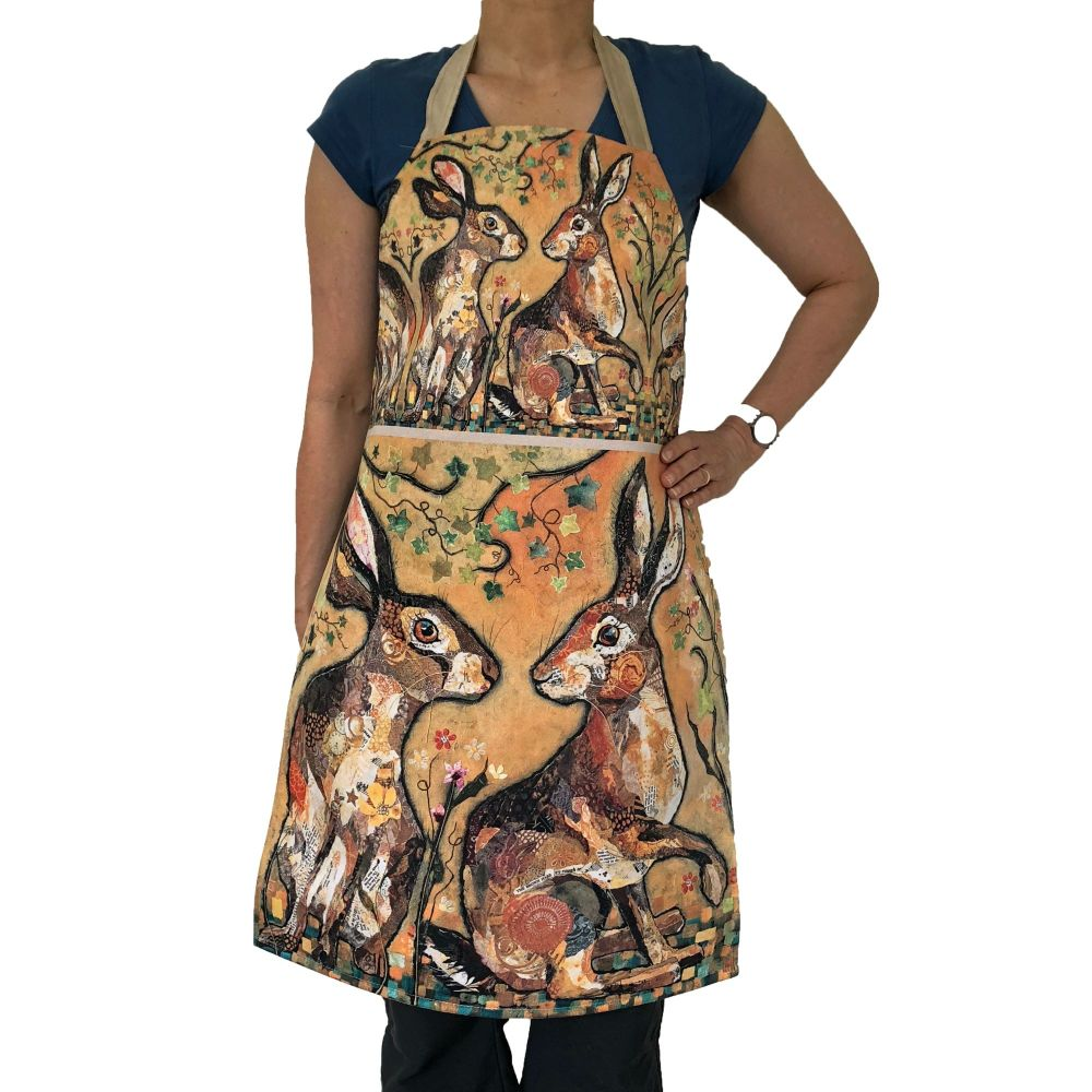 *NEW* AP298 - Hare's Looking at You - Plush Apron
