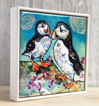 "Puffin Pals - 6"" Ceramic Wall Tile"