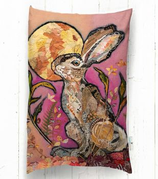 Raspberry Moonlight - Hare Cushion