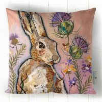 Hare and Thistle - Cushion