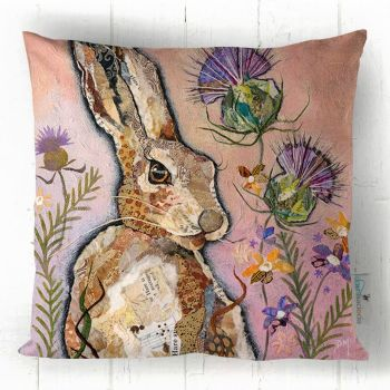 Hare and Thistle - Scottish Decor Cushion
