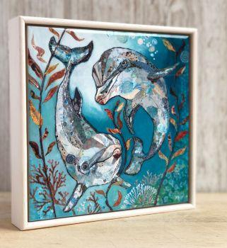 """Bubbles & Squeak - 6"""" Ceramic Print"""