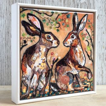 """Hare's Looking at You - 6"""" Ceramic Print"""