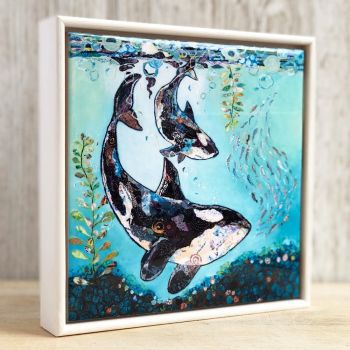 """Dance with the Orca - 6"""" Ceramic Print"""