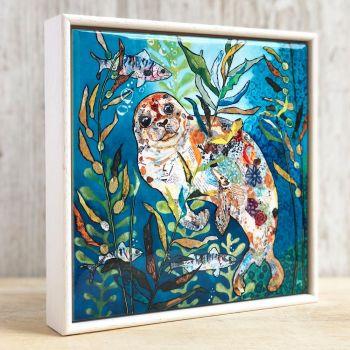 "Deep Blue Seal - 6"" Ceramic Print"