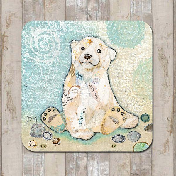 Polar Bear Cub Coaster Tablemat Placemat