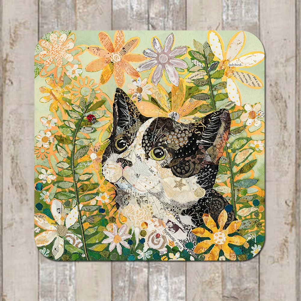 Black Cat Coaster Tablemat Placemat