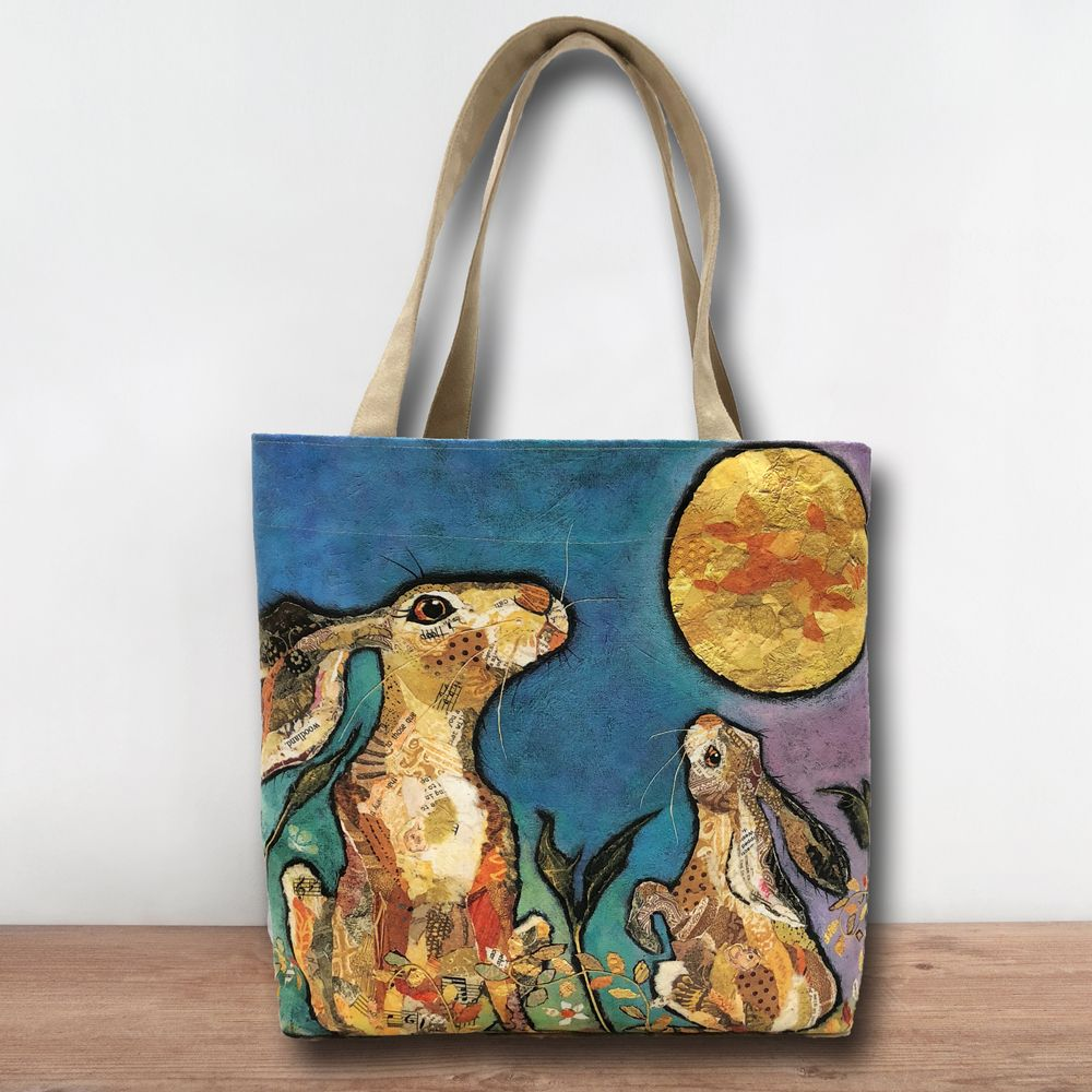 Moongazing Hare & Moon Tote Shopper Bag