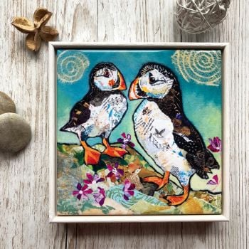 "Puffin Pals - 6"" Ceramic Print"