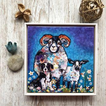 """Ram-a-Lamb-a-Ding-Dong - 6"""" Ceramic Print"""