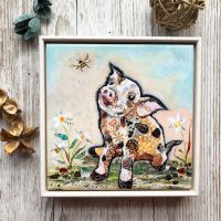 "If Pigs could Fly - 6"" Ceramic Print"