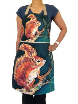 wee red squirrel apron copy