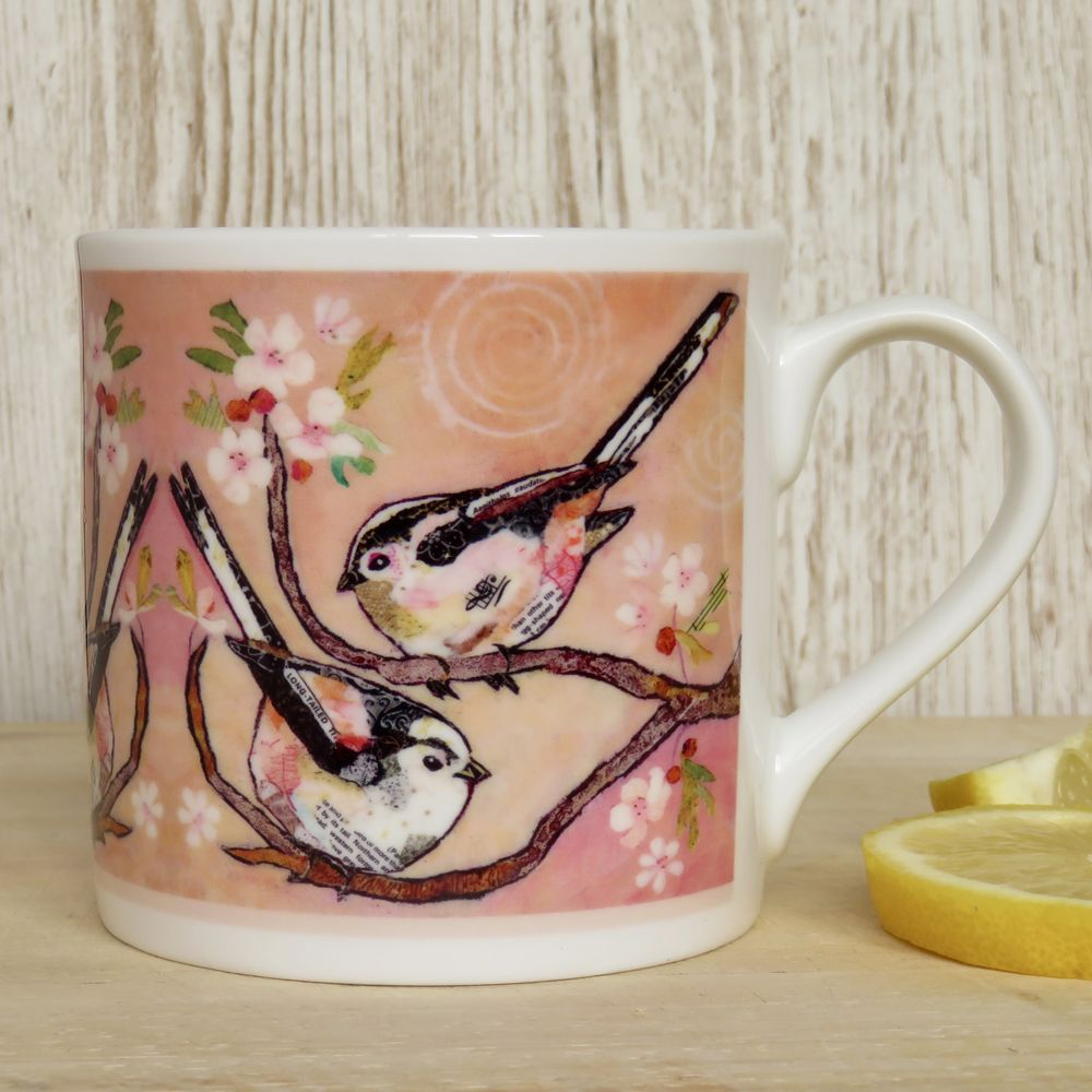 Long-Tailed Tits Fine Bone China Mug